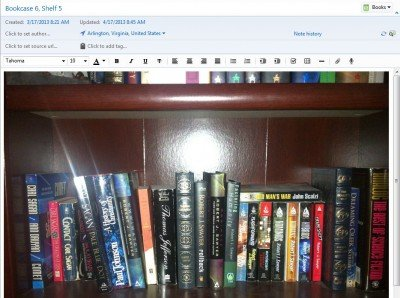 Going Paperless My Virtual Bookcases In Evernote Jamie Todd