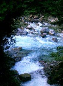 Mountain stream, Adera Keikoku, Nagano, Japan